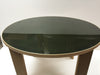 "49"" Round Dining Table With Smoked Glass Top 