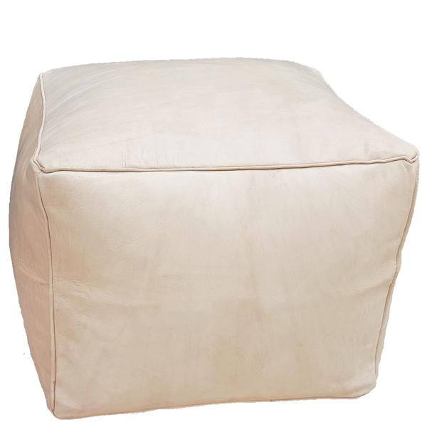 Cube Leather Pouf - touchGOODS