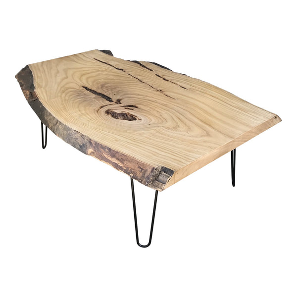 Organic Modern Live Edge Maple Slab Coffee Table | touchGOODS