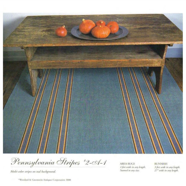 "Woodard Weave: Pennsylvania Stripes 2-A-1 4' x 82"" - touchGOODS"