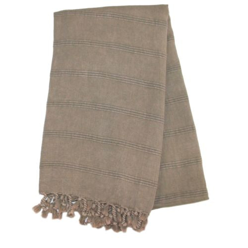 Stonewash Turkish Bath Towel - Beige | touchGOODS