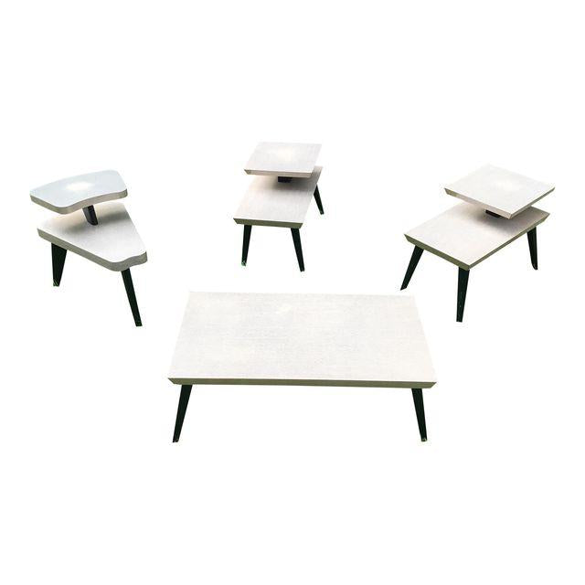 Vintage Atomic Retro Coffee Table & End Tables - Set of 4 | touchGOODS
