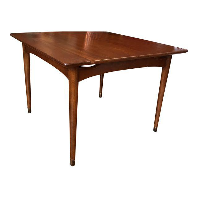 Vintage Mid-Century Modern Solid Walnut Side Table or Coffee Table