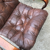 Vintage Patchwork Leather Swivel Recliner | touchGOODS