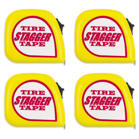 10' Tire Stagger Tape Measure with Magnetic Back (4 Pack)