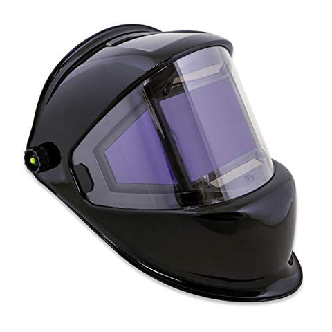 TGR Digital Panoramic 180 View Solar Powered Auto Darkening Welding Helmet - True Color (Black)