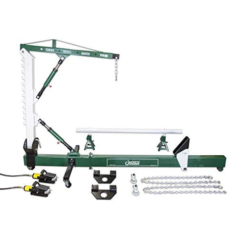 Jackco 10 Ton Auto Body Frame Repair Straightener with 1.2 Ton Crane , Swivel Post, 2 Air Hydraulic Pumps