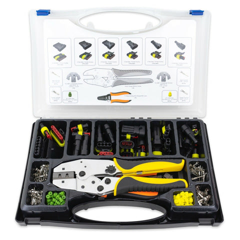236pc 1.5 Superseal Terminal Ratcheting Crimping Tool & Connector Kit