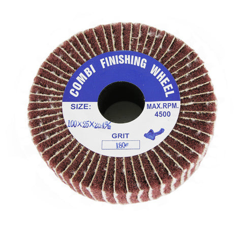180 grit Abrasive Combi-Wheel Combo Flap Brush Finishing Wheel