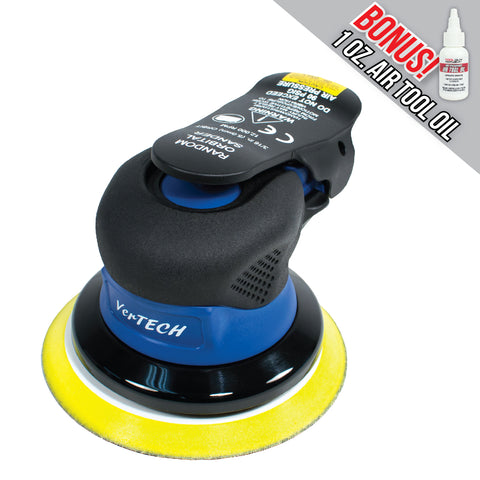 "Vertech 5"" & 6"" Palm Style Air Random Orbital Sander - Composite Housing - 3/16"" Orbit"