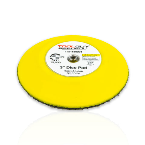 "3"" Hook and Loop Sanding Pad 5/16""-24 Female Thread TGR130301"