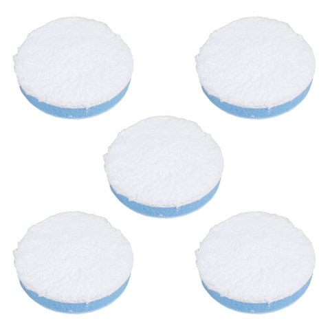 "3"" Blue Microfiber Polishing Pad (Pack of 5)"