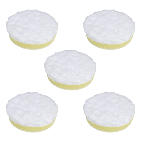 "3"" Microfiber Polishing Pad Yellow Medium Density Foam (Pack of 5)"