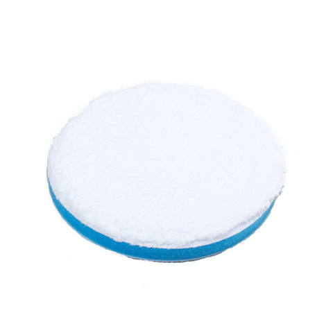 "6"" Microfiber Polishing Pad Hook and Loop Blue Soft Density Foam"