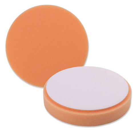"5.5"" Orange Foam Medium Cut DA Pad for use with 5"" Backing Pads"