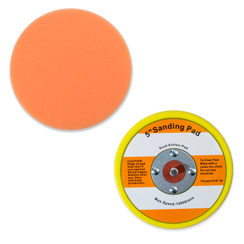 "5.5"" Foam Polishing Pad with 5"" Hook and Loop 5/16""-24 Backup Pad - Porter Cable"