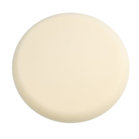 "9"" Ultra Fine White Foam Finishing Pad with Hook and Loop Backing"