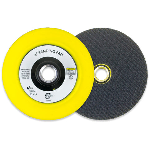 "4"" Hook and Loop Sanding Pad with 5/8-11 Threads with Center Hole"
