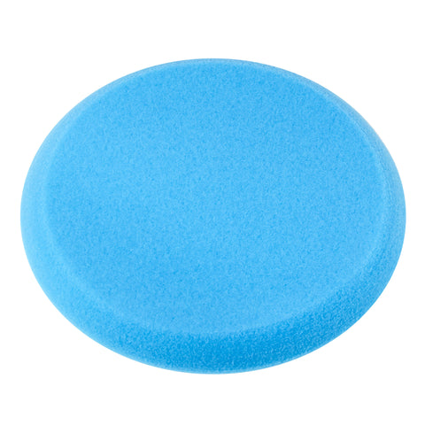 "9"" Blue Foam Buffing Pad Hook and Loop - Medium Cut"