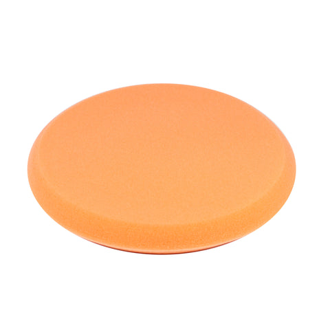"9"" Orange Foam Buffing Pad Hook and Loop - Medium Cut"