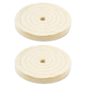 "2pc - 5"" x 1/2"" Buffing Polishing Wheel 1/2"" Arbor Buffer Polish"
