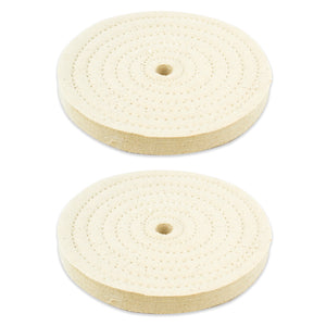 "2pc - 6"" x 9/16"" Buffing Polishing Wheel 1/2"" Arbor Buffer Polish"