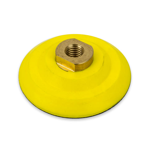 "4"" Flexible Backing Pad with 5/8-11 Brass Arbor"