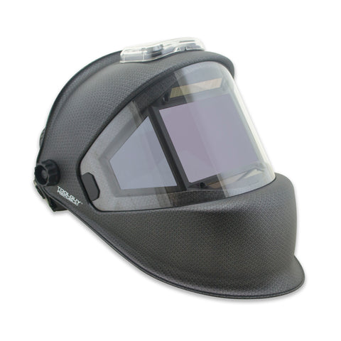 TGR Panoramic 180 View Solar Powered Auto Darkening Welding Helmet - True Color (Matte Carbon Fiber)