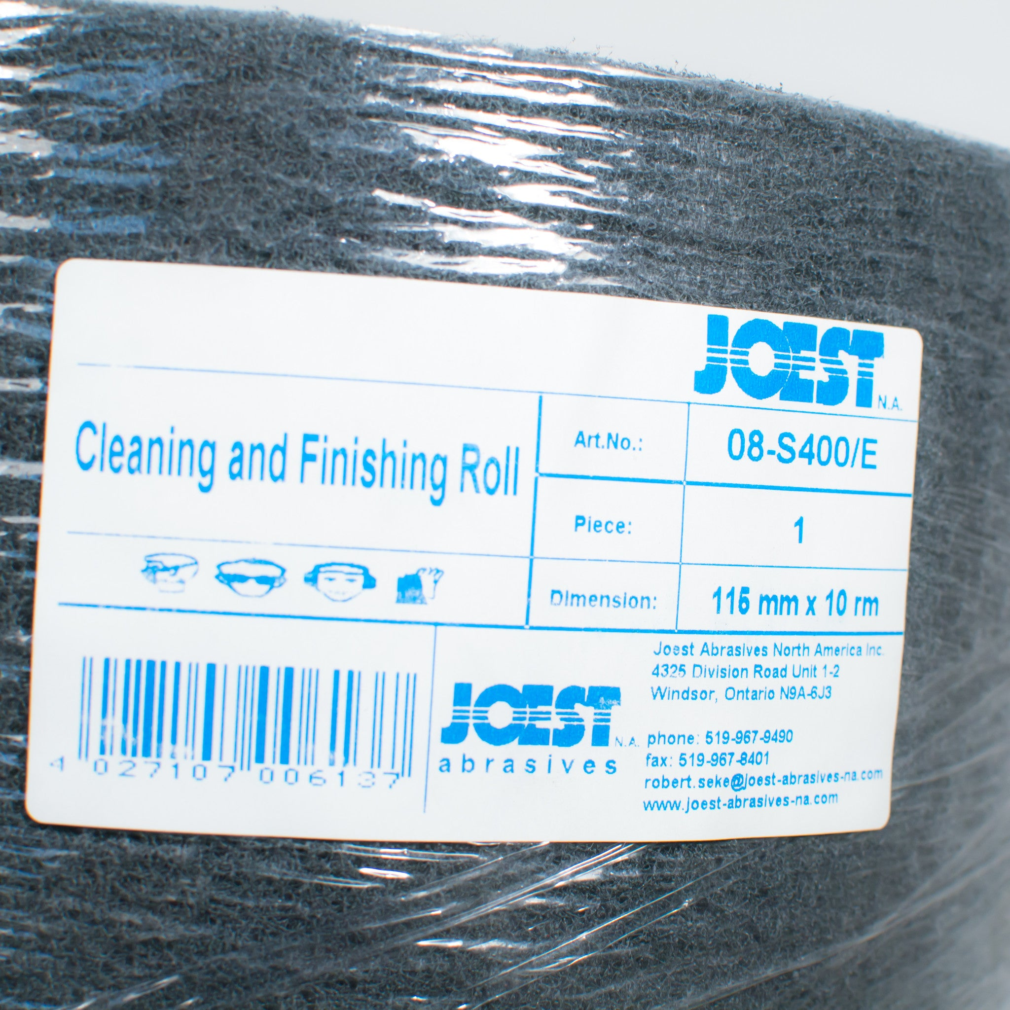 Gray Fine Scuff Pad Roll 33 ft