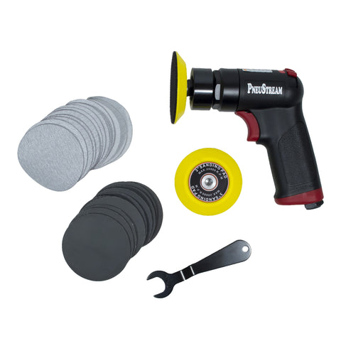 "3"" Mini Compact Pistol Grip Random Orbital Air Sander"