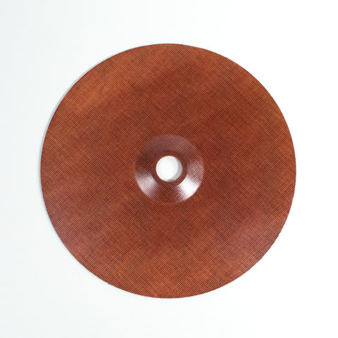 "9"" Reinforced Phenolic Backing Plate with 7/8"" Depressed Center Hole"