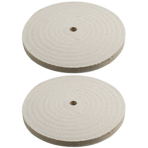 "2pc - 7"" x 9/16"" Buffing Polishing Wheel 1/2"" Arbor Buffer Polish"