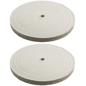 "2pc - 8"" x 9/16"" Buffing Polishing Wheel 1/2"" Arbor Buffer Polish"