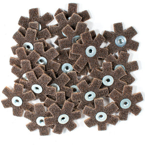 "25pc 2"" Surface Conditioning Star Abrasive Disc -Brown Coarse Grade"