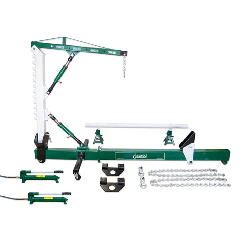 Jackco 10 Ton Body Straightener with 1.2 Ton Crane and Swivel Post