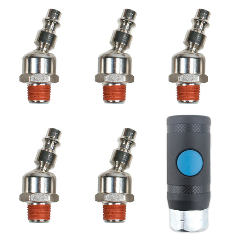 "1/4 in. Female Safety Coupler with Industrial Swivel 1/4"" NPT Male Quick Connect Air Tool Fittings"