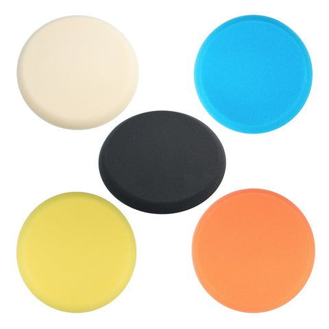 "5pk - 9"" Foam Cutting, Buffing, Polishing, Finishing Pad (Hook and Loop Backing)"