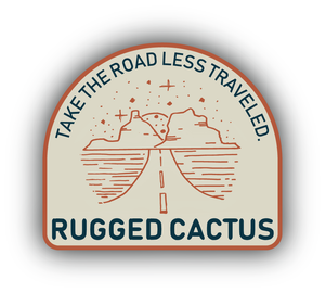 Road Less Traveled Sticker - Cream