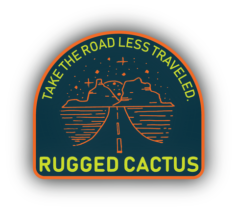 Road Less Traveled Sticker - Blue