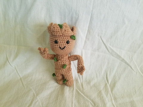 Baby Groot Crochet Plush Doll