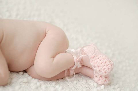 Crochet Newborn Baby Girl Ballet Slippers Shoes - Newborn Photo Prop - Baby Booties