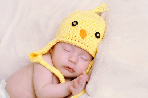 Crochet Baby Chick hat  - Newborn Yellow Bird Hat - Spring Bird Hat - Unisex Baby Shower Gift
