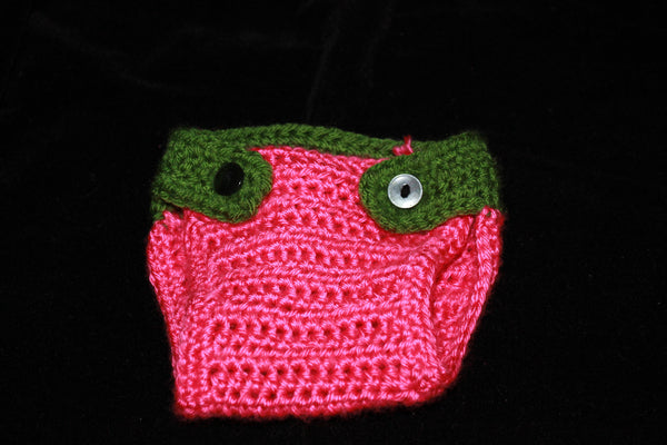 7f51279b3d5 Crochet Baby Watermelon hat and diaper cover
