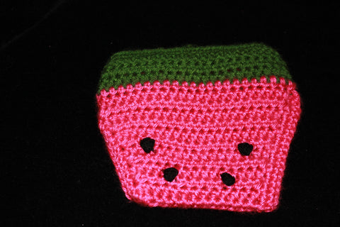 af32ee9e12c ... Crochet Baby Watermelon hat and diaper cover