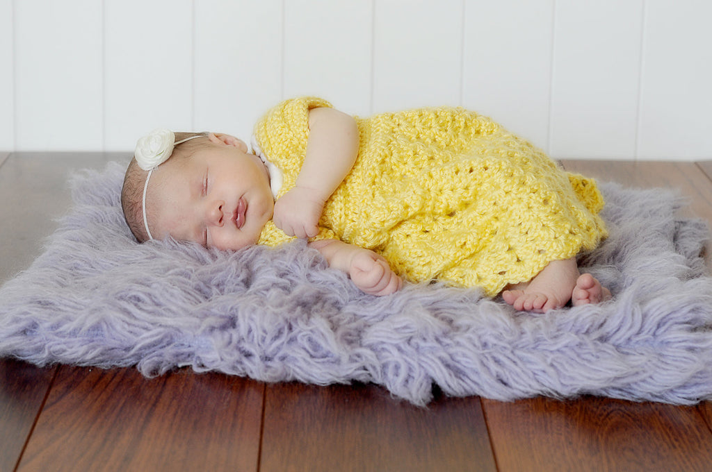Crochet Baby Dress, Newborn Dress, Crochet Dress, Baby Girl, Baby Shower Gift, Newborn Photo Prop, Dainty, Shells, Baby, Infant, Toddler