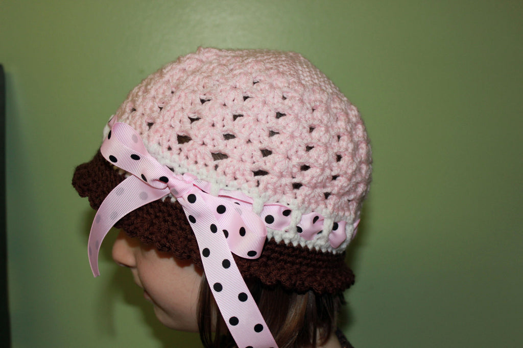 Cloche Girls Hat - Girls Cloche Hat - Katrina Style Cloche Hat - Crochet Cloche Hat - Girls Summer Sunhat - Custom Color Crochet girls Hat