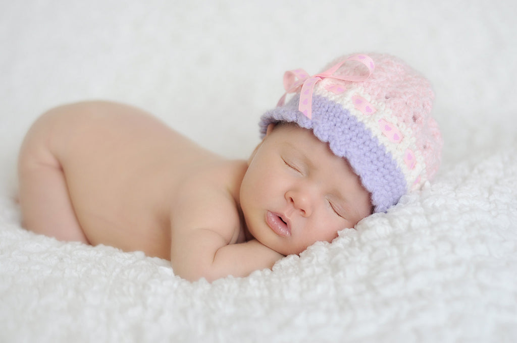 Cloche Baby Hat - Newborn Cloche Hat - Katrina Style Cloche Hat - Crochet Cloche Hat - Newborn Photo Props - Custom Color Crochet Baby Hat