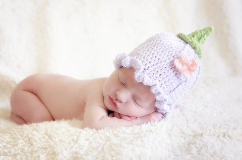 Crochet Flower Hat - Fairy Hat - Butterfly - Spring Flower Hat - Newborn Photo Prop - Baby Flower Hat - Ruffle Flower - Baby Shower Gift