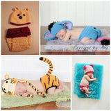 Crochet Tiger Set - Tiger Hat Diaper Cover with Tail - Baby Set - Photo Prop - Picture Character Hat - Tigger - Newborn Halloween Costume