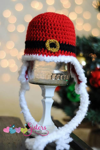 Crochet Santa Christmas Hat  - Red Newborn Hat - Crochet Baby Hat - Holiday Hat - Winter Hat - Newborn Photo Prop - Christmas Pictures Hat